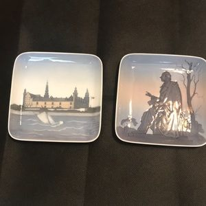 Collectible small square plates Copenhagen Denmark